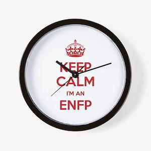Keep Calm I'm An ENFP Wall Clock