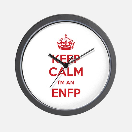 Keep Calm I'm An ENFP Wall Clock