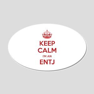 Keep Calm I'm An ENTJ 20x12 Oval Wall Decal