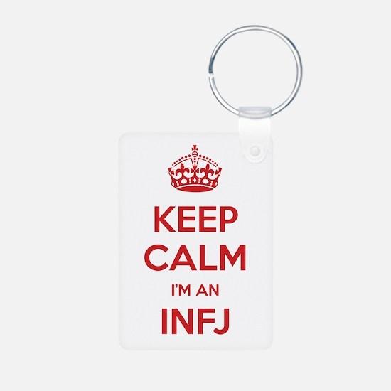 Keep Calm I'm An INFJ Aluminum Keychain