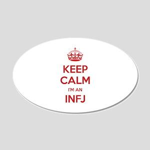Keep Calm I'm An INFJ 20x12 Oval Wall Decal