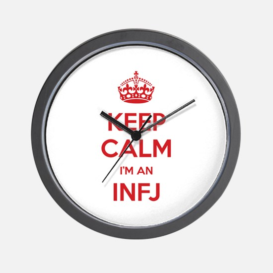 Keep Calm I'm An INFJ Wall Clock