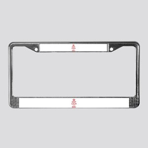 Keep Calm I'm An ENFJ License Plate Frame