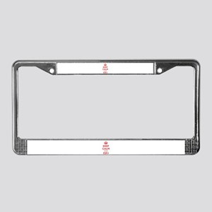 Keep Calm I'm An ESFJ License Plate Frame