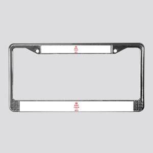 Keep Calm I'm An INTJ License Plate Frame