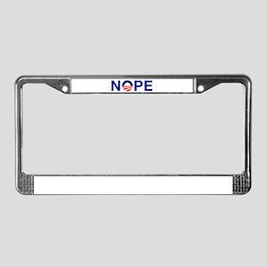 NOPE License Plate Frame