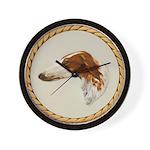 Vintage Borzoi Painting Wall Clock