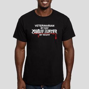 Zombie Hunter - Vet Men's Fitted T-Shirt (dark)