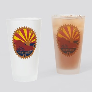 Our Mtb Rides Drinking Glass