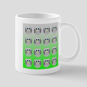 Cute Owls (Green Tiled) Mugs