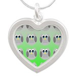 Cute Owls (Green Tiled) Necklaces