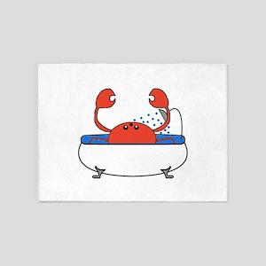 Crab in Bathtub 5'x7'Area Rug