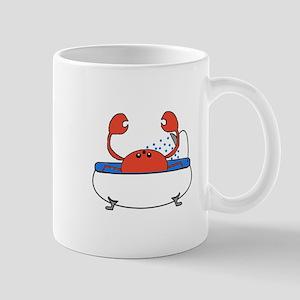 Crab in Bathtub Mugs