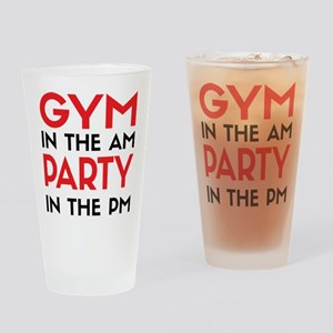 Gym In The AM Drinking Glass