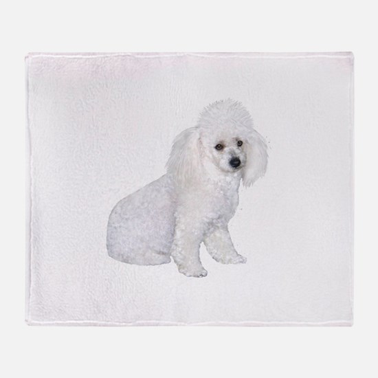Poodle (W3) Throw Blanket