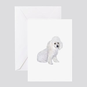 Poodle (W3) Greeting Card