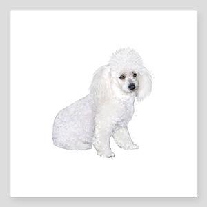 """Poodle (W3) Square Car Magnet 3"""" x 3"""""""
