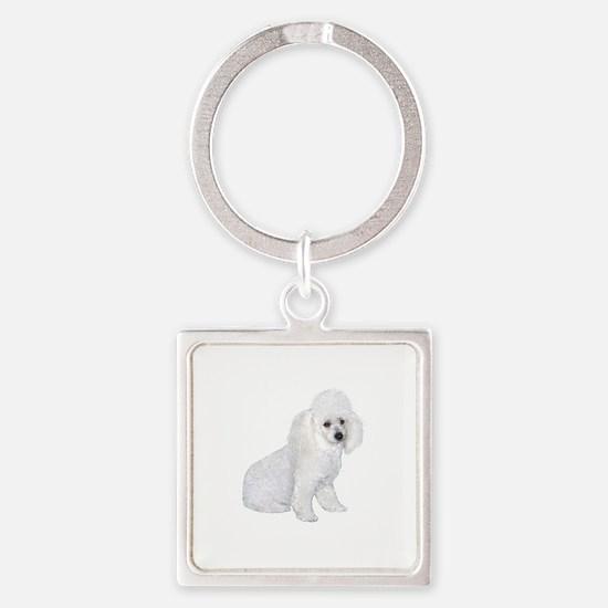 Poodle (W3) Square Keychain