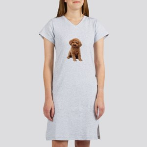 Poodle-(Apricot2) Women's Nightshirt