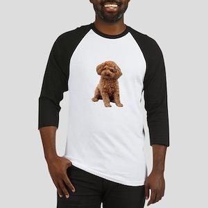 Poodle-(Apricot2) Baseball Jersey