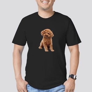Poodle-(Apricot2) Men's Fitted T-Shirt (dark)