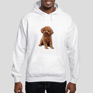 Poodle-(Apricot2) Hooded Sweatshirt