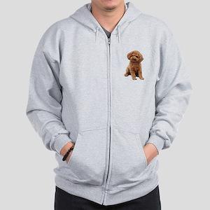 Poodle-(Apricot2) Zip Hoodie