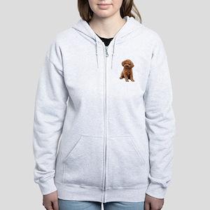 Poodle-(Apricot2) Women's Zip Hoodie