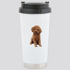 Poodle-(Apricot2) Stainless Steel Travel Mug