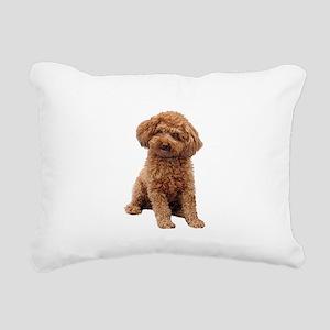 Poodle-(Apricot2) Rectangular Canvas Pillow