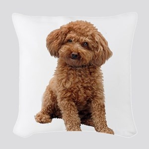 Poodle-(Apricot2) Woven Throw Pillow