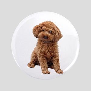 """Poodle-(Apricot2) 3.5"""" Button"""