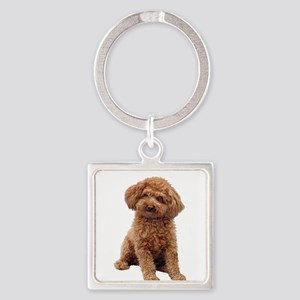 Poodle-(Apricot2) Square Keychain