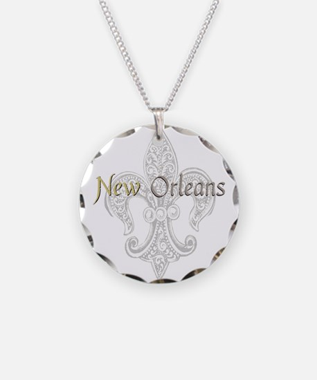 New Orleans Necklace Circle Charm