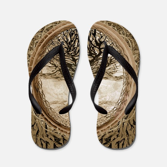 Tree of Life in Brown Flip Flops