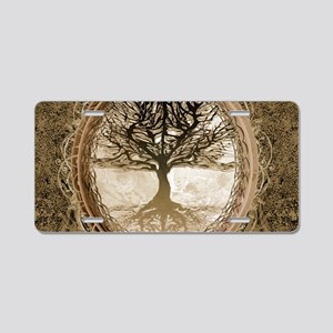 Tree of Life in Brown Aluminum License Plate