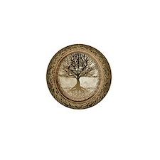 Tree of Life in Brown Mini Button