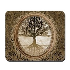 Tree of Life in Brown Mousepad