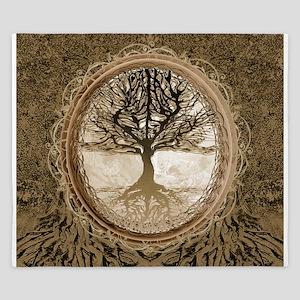 Tree of Life in Brown King Duvet