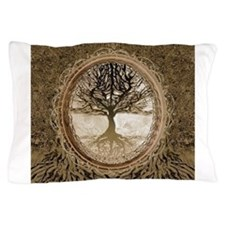 Tree of Life in Brown Pillow Case