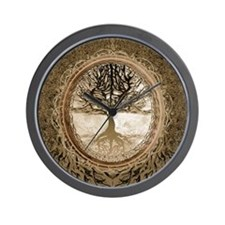 Tree of Life in Brown Wall Clock