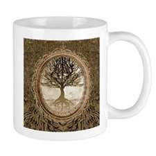 Tree of Life in Brown Mugs