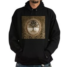 Tree of Life in Brown Hoodie