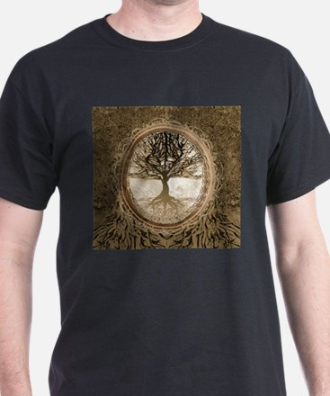 Tree of Life in Brown T-Shirt