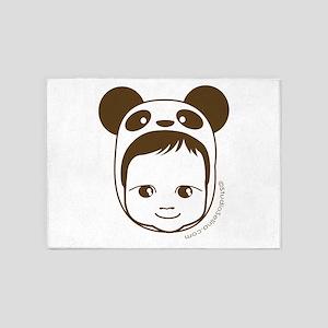 Panda Baby 5'x7'Area Rug