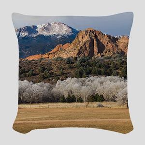 Pikes Peak Woven Throw Pillow