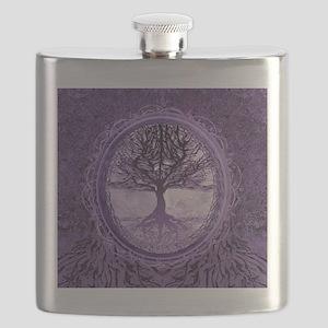 Tree of Life in Purple Flask