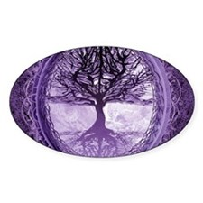 Tree of Life in Purple Sticker