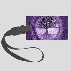 Tree of Life in Purple Luggage Tag