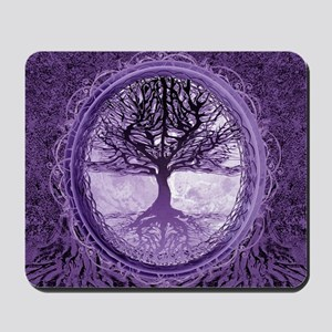 Tree of Life in Purple Mousepad